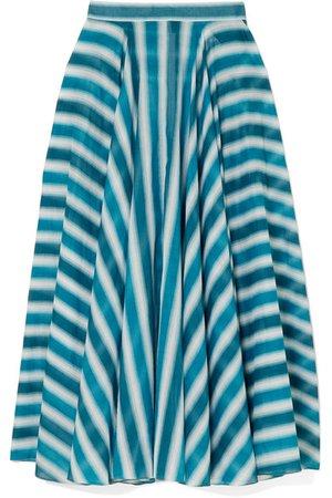 Alaïa   Striped cotton-voile skirt   NET-A-PORTER.COM