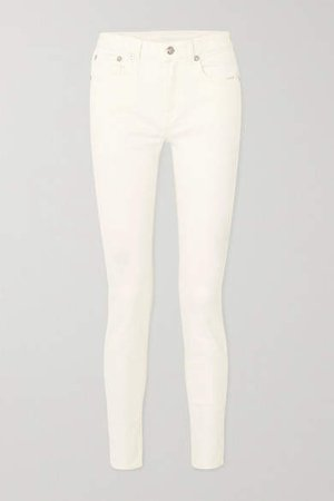 Alison Mid-rise Skinny Jeans - White