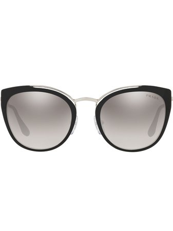 Prada Eyewear Oversized Round Sunglasses - Farfetch