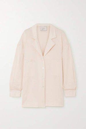 Net Sustain The Meryl Printed Cotton Shirt - Beige