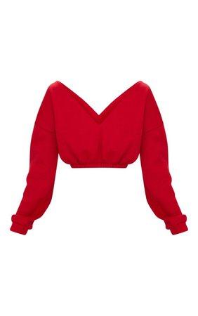 Grey Marl Crop Bardot Sweater   Tops   PrettyLittleThing