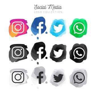 Colección de logotipo circular de redes sociales populares | Descargar Vectores gratis