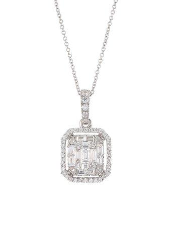 Zydo Mosaic 18K White Gold & Diamond Pendant Necklace