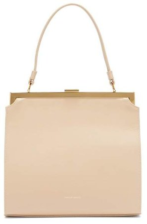 Elegant Leather Bag - Womens - Beige