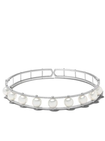 Yoko London 18kt White Gold Mayfair South Sea Pearl And Diamond Necklace - Farfetch