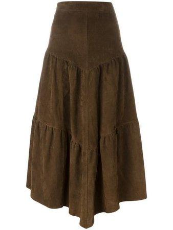 Saint Laurent long frill skirt