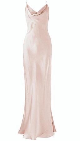 Cowl Neck Emerald Green Slip Dress Gown ALASHANGHAI