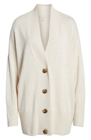 Chelsea28 Oversize Button Front Cardigan grey