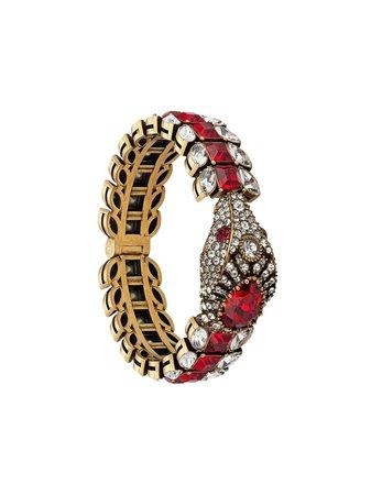 Gucci, Crystal Embellished Snake Bracelet