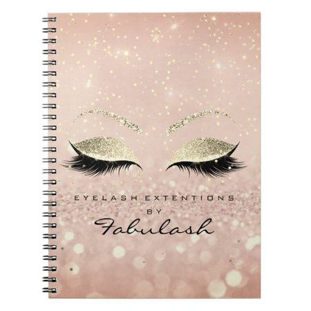 Pink And Gold Personalized Notebook | Zazzle.com