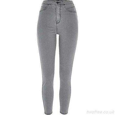 Jeans High Women'S Grey Waisted Molly Jeggings Waisted, Women'S Jeans Fashionable - £48.17