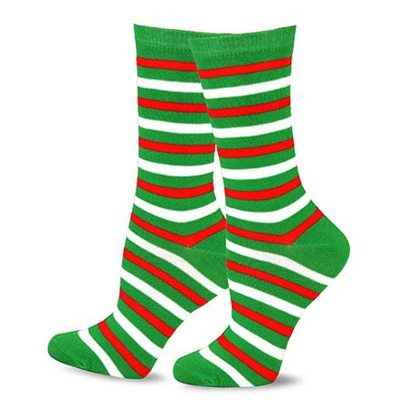 TeeHee Christmas and Holiday Fun Crew Socks for Women 4 Pair Pack (Dog Cat Stripe): Clothing