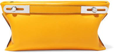 Missy Small Textured-leather Shoulder Bag - Yellow