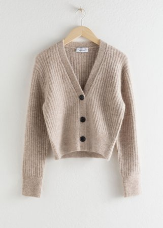 Wool Blend Cardigan - Oatmeal - Cardigans - & Other Stories
