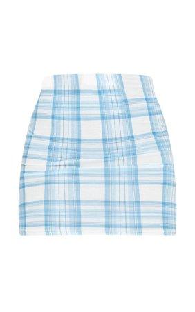 Baby Blue Check Mini Skirt | Skirts | PrettyLittleThing USA