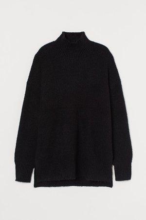 Knit Sweater - Black - Ladies | H&M CA