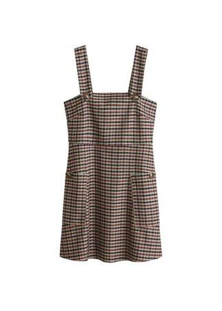 MANGO Button checkered pichi