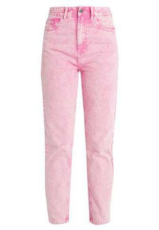 Even&Odd Slim fit jeans - pink - Zalando.co.uk