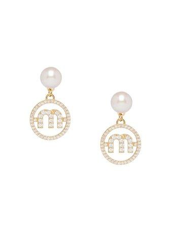 Miu Miu Miu Pearl Earrings - Farfetch