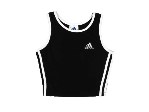 black white stripe adidas tank