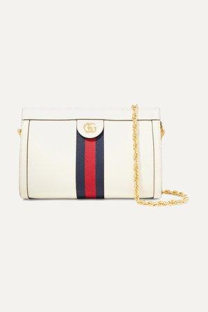 Ecru Ophidia textured-leather shoulder bag | Gucci | NET-A-PORTER