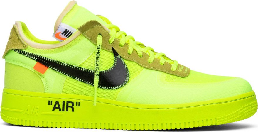 OFF-WHITE x Air Force 1 Low 'Volt' - Nike - AO4606 700   GOAT