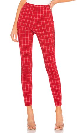 h:ours Darling Pant in Red & White | REVOLVE