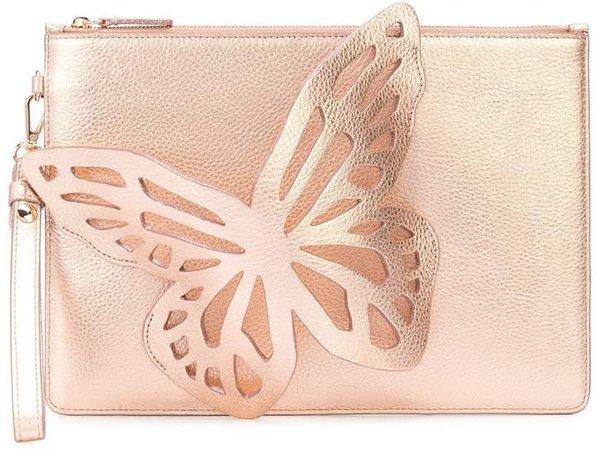 3D butterfly detail clutch