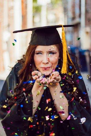 blowing confetti graduation pictures - Google Search