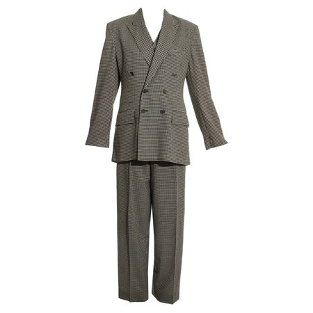 Vivienne Westwood unisex checked wool three-piece pant suit, fw 1992 For Sale at 1stDibs