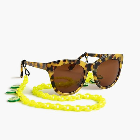 J.Crew: Edie Parker® X J.Crew Sunglasses Chain With Lime Slices For Women