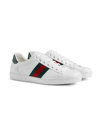 Gucci Ace Leather Sneakers - Farfetch