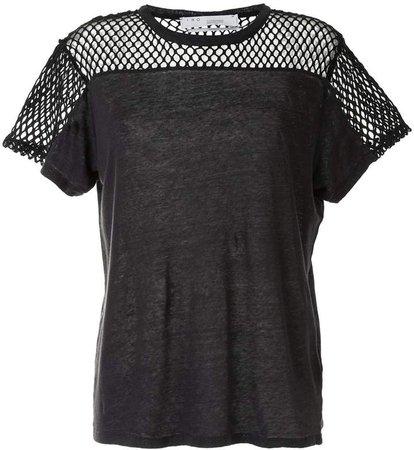 mesh-panel short-sleeve T-shirt