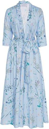 Belted Floral Midi Dress