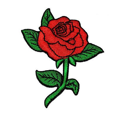 1pc Red Rose Patch Embroidered DIY Applique Sew on Craft for Bags Jeans Clothes for sale online | eBay