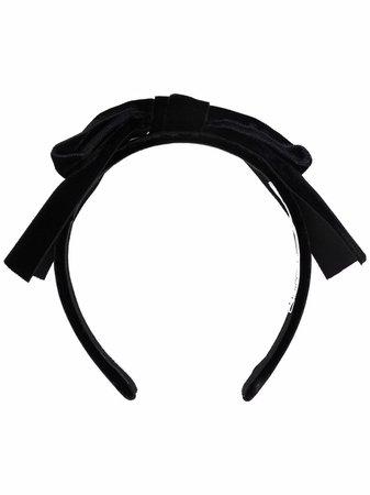 alessandra rich black bow headband