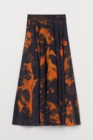 Circle Skirt - Dark blue/orange - Ladies | H&M US