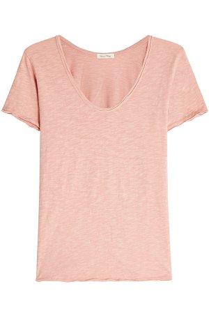 Scoop Neck Cotton T-Shirt Gr. M