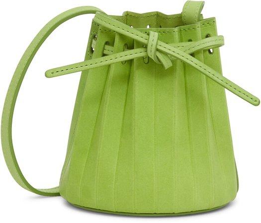 Baby Pleated Leather Bucket Bag