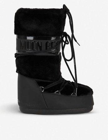 MOON BOOT - Faux fur-trimmed snow boots | Selfridges.com