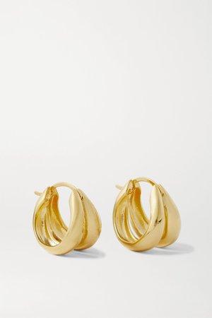 Gold Gold vermeil hoop earrings | Sophie Buhai | NET-A-PORTER