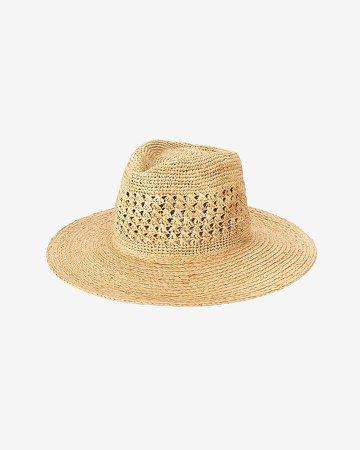 San Diego Hat Company Crochet Raffia Fedora