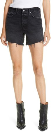 Jourdan Distressed High Waist Cutoff Denim Shorts