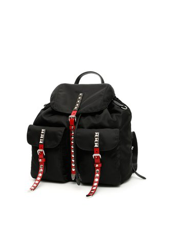 Prada Prada Black Nylon Backpack - NERO FUOCO (Black) - 10965021 | italist