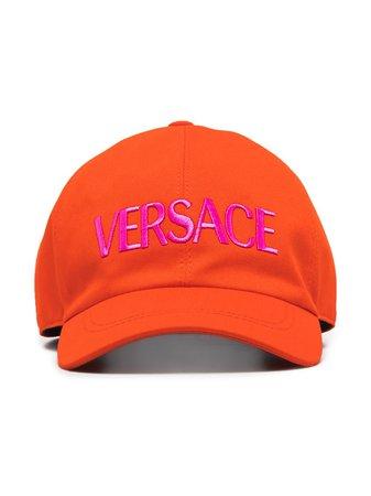 Versace Logo-Embroidered Baseball Cap Ss20 | Farfetch.com