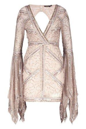 Premium Hand Embellished Bodycon Dress | Boohoo