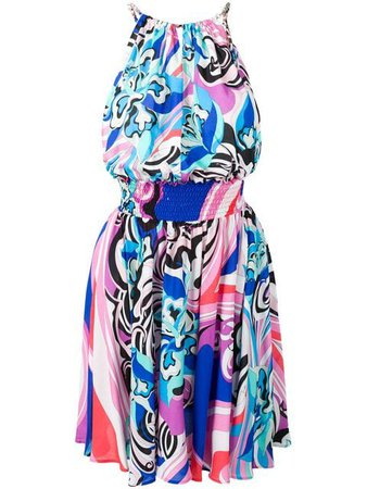 Emilio Pucci Blue Merida Print Beach Dress $1,101 - Buy SS19 Online - Fast Global Delivery, Price