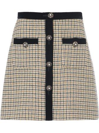 Miu Miu, Houndstooth Check Skirt