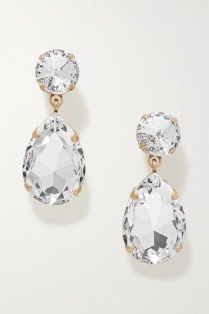 Roxanne Assoulin   Hip-Hop But Not gold-tone Swarovski crystal clip earrings   NET-A-PORTER.COM