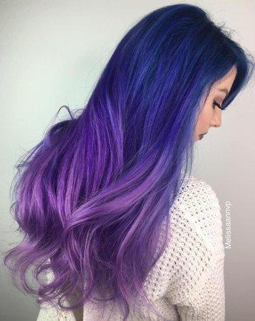 blue purple ombre hair - Google Search